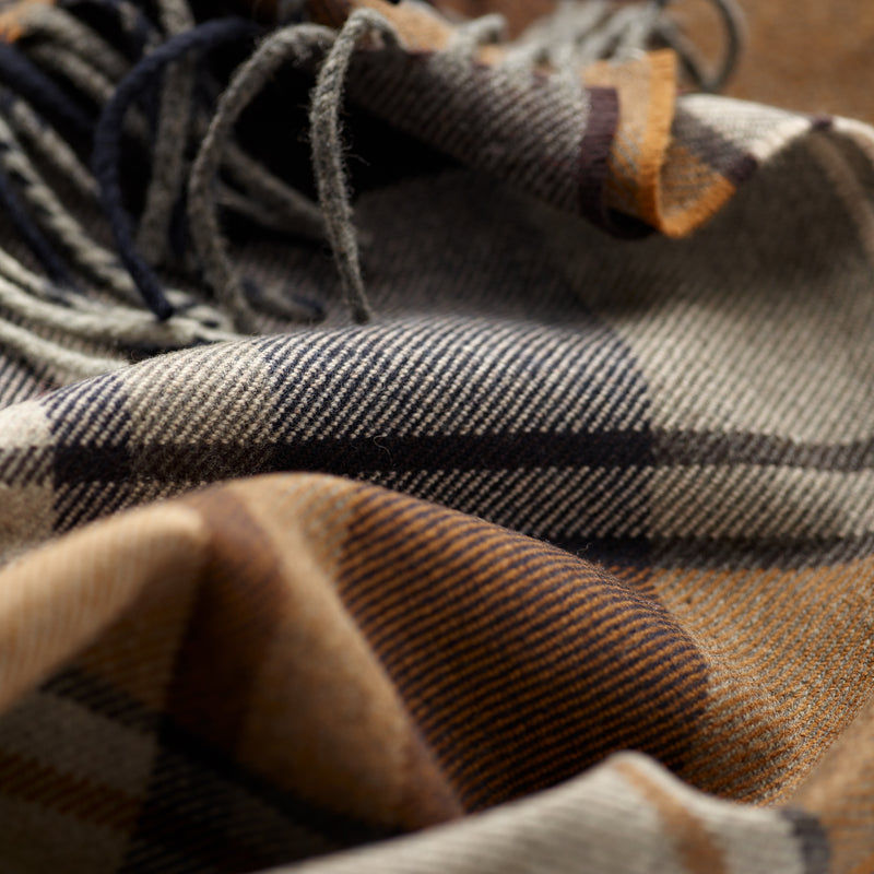 FoxBrothers-Luxury-51%-Cashmere-49%-Merino-Wool-Scarf-Chestnut-Brown-Check-with-fringe.