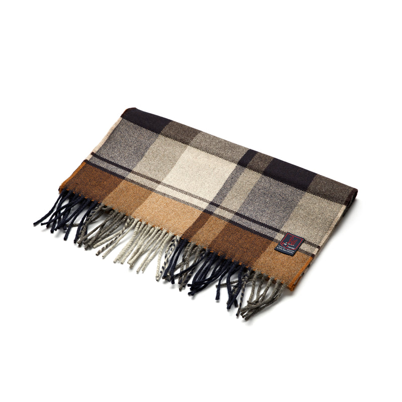 FoxBrothers-Luxury-51%-Cashmere-49%-Merino-Wool-Scarf-Chestnut-Brown-Check.