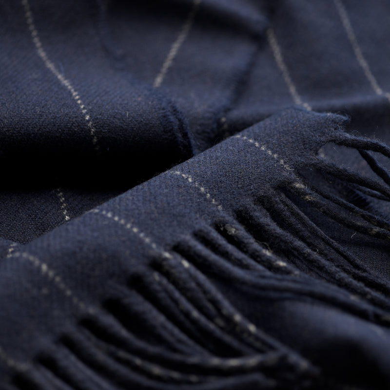 FoxBrothers-Luxury-51%-Cashmere-49%-Merino-Wool-Scarf-Navy-Pinstripe-with-fringe.