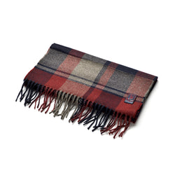 FoxBrothers-Luxury-51%-Cashmere-49%-Merino-Wool-Scarf-Wine-Navy-Check.