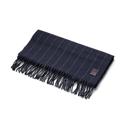 FoxBrothers-Luxury-51%-Cashmere-49%-Merino-Wool-Scarf-Navy-Pinstripe.