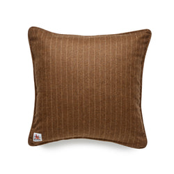 Fox Flannel Chestnut Chalk Stripe Cushion