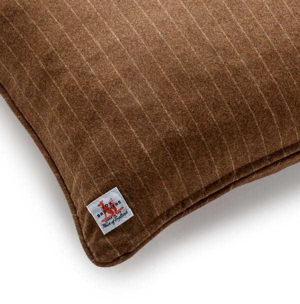 Fox Brothers Chestnut Chalk Stripe Cushion