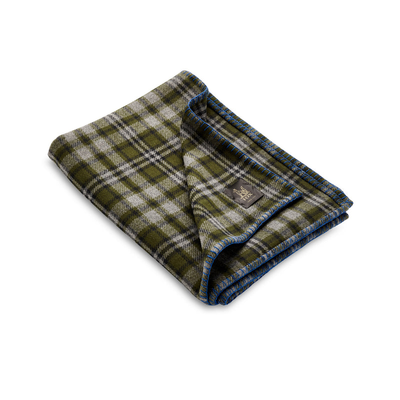 Fox Brothers Olive Heddon Blanket with Grey