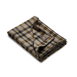 Fox Brothers Grey Heddon Blanket with Tobacco