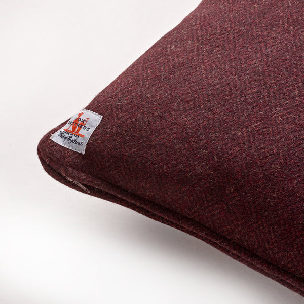 Fox Diamond Weave Cushion in Burgundy
