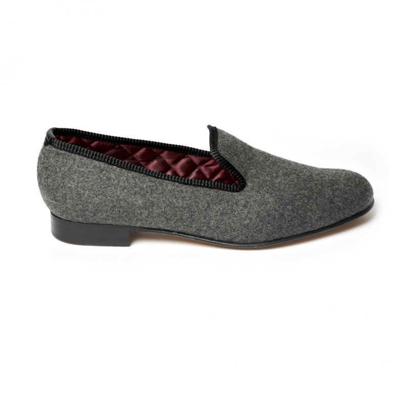 Fox Flannel Mid Grey Albert Slippers