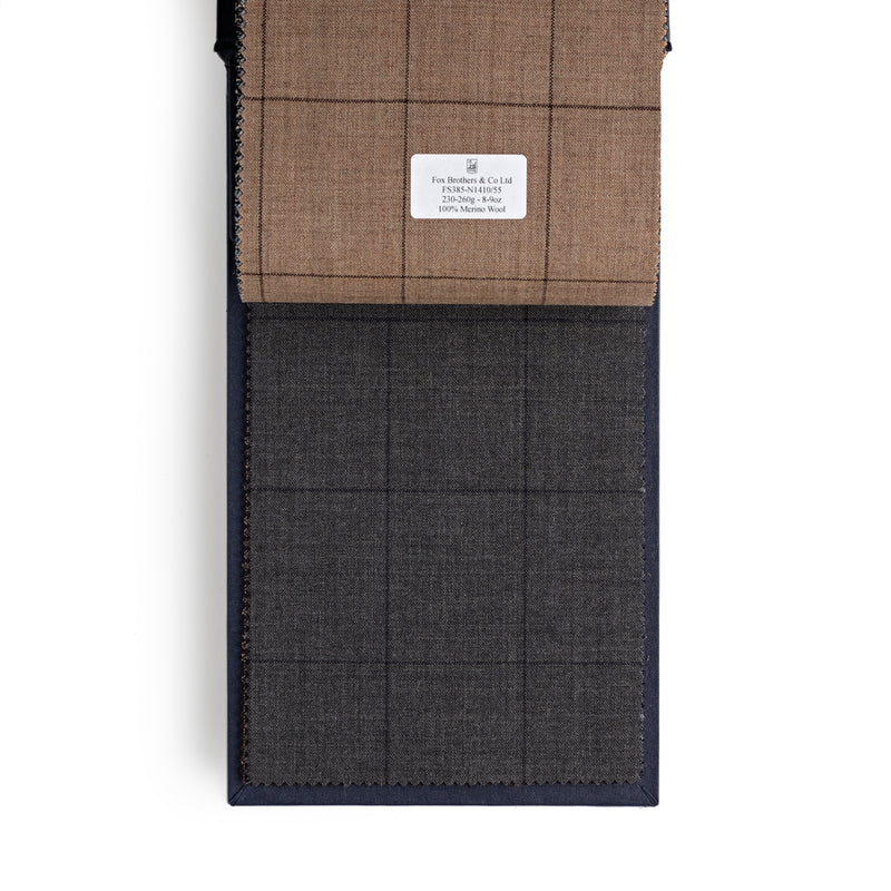 Golden Fox Charcoal Windowpane