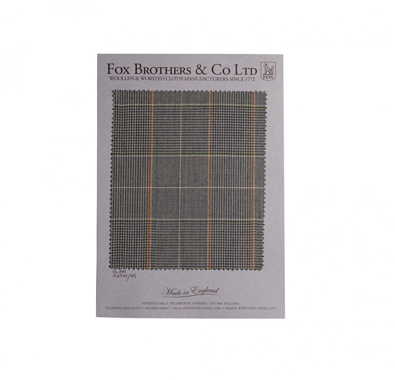 Grey Worsted Glen Check