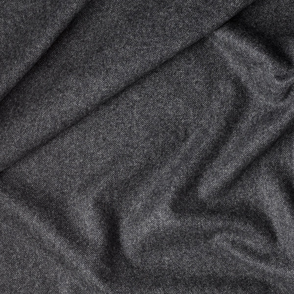 Slate Grey Herringbone Flannel