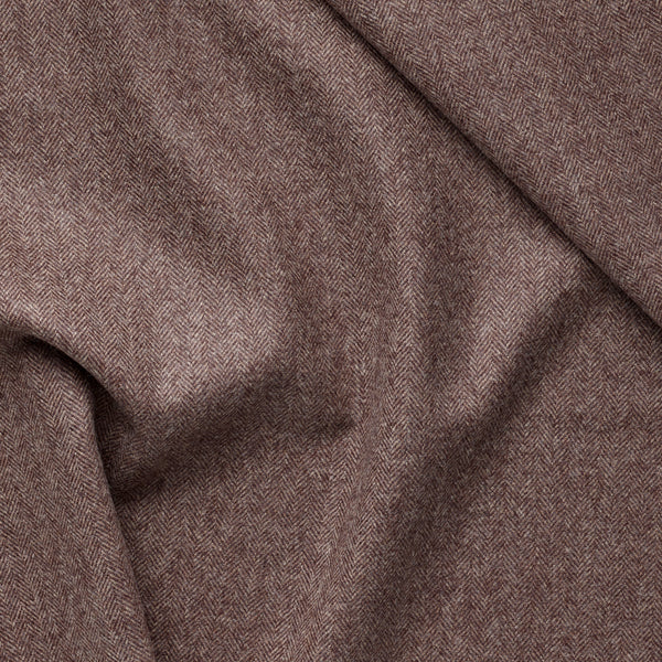 Chestnut Brown Herringbone Flannel