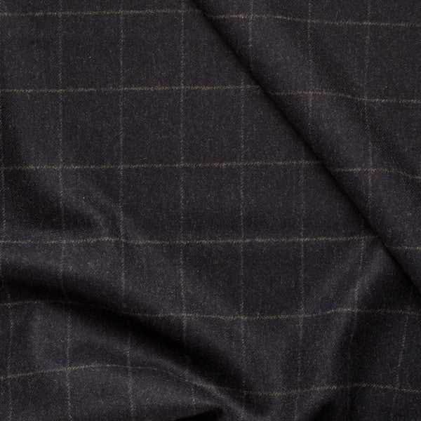 Char-Navy Windowpane Flannel