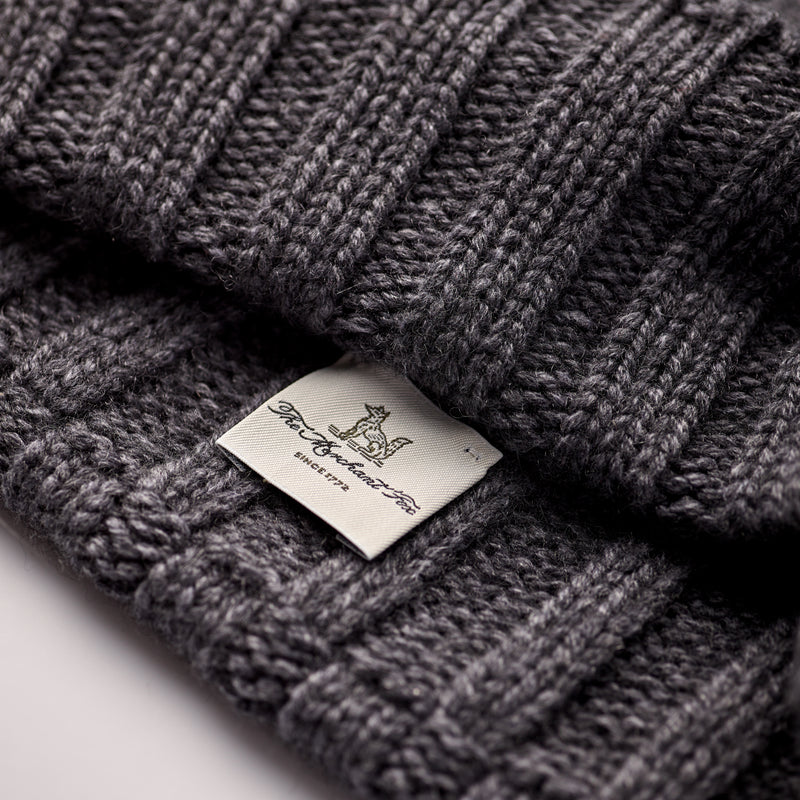 Luxury-Slate-Grey-Knitted-Beanie-100%-Cashmere-The-Merchant-Fox
