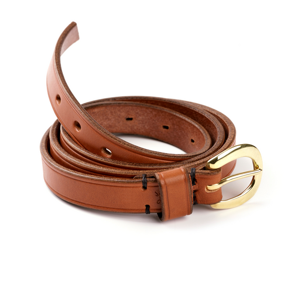 Ladies Half Swage Leather Belt