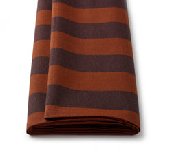 Linen Chocolate Brown and Dark Sienna Wide Sporting Stripe Jacketing