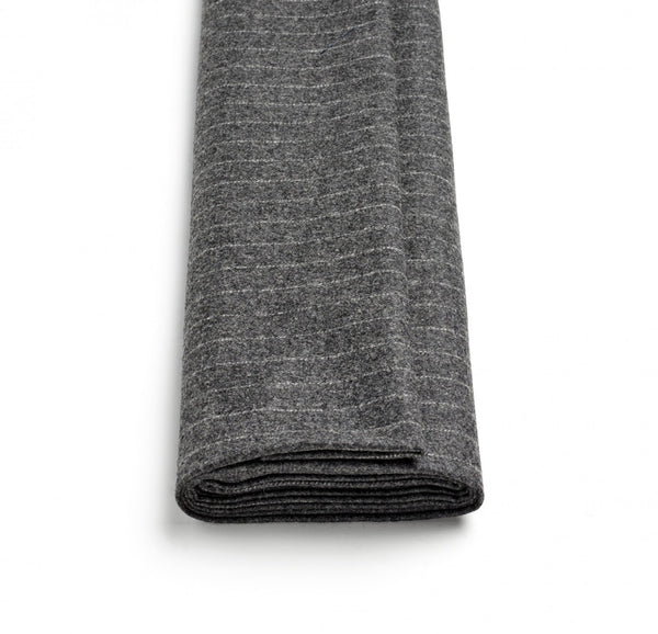 Mid-Grey Chalk Stripe Flannel