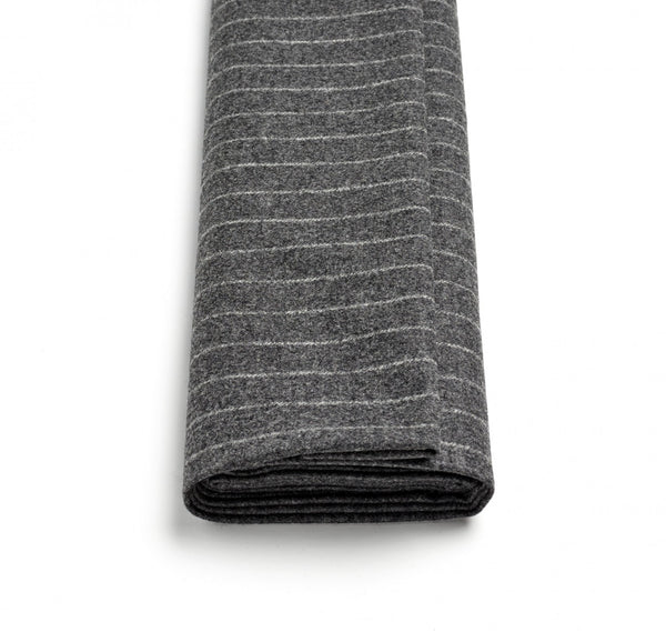 Mid-Grey Wide Chalk Stripe Flannel