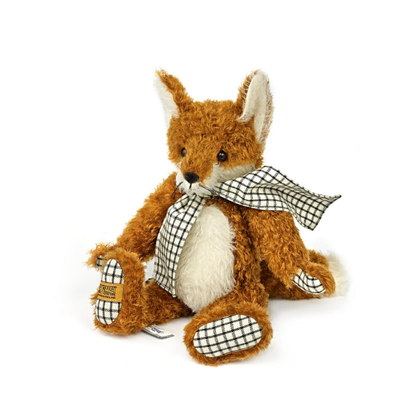 Mr Fox with Gingham Scarf