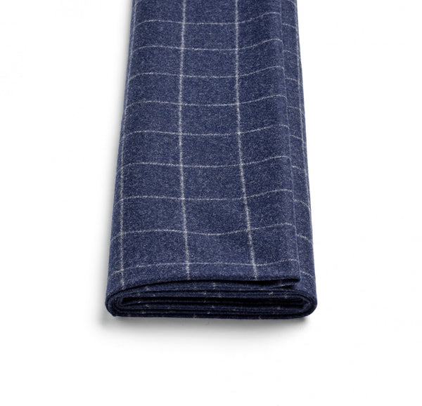 Navy Windowpane Flannel