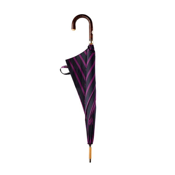 Francesco Maglia Navy and Magenta Double Stripe Umbrella