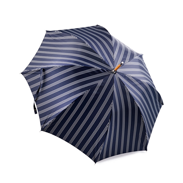 Francesco Maglia Navy and White Triple stripe Umbrella