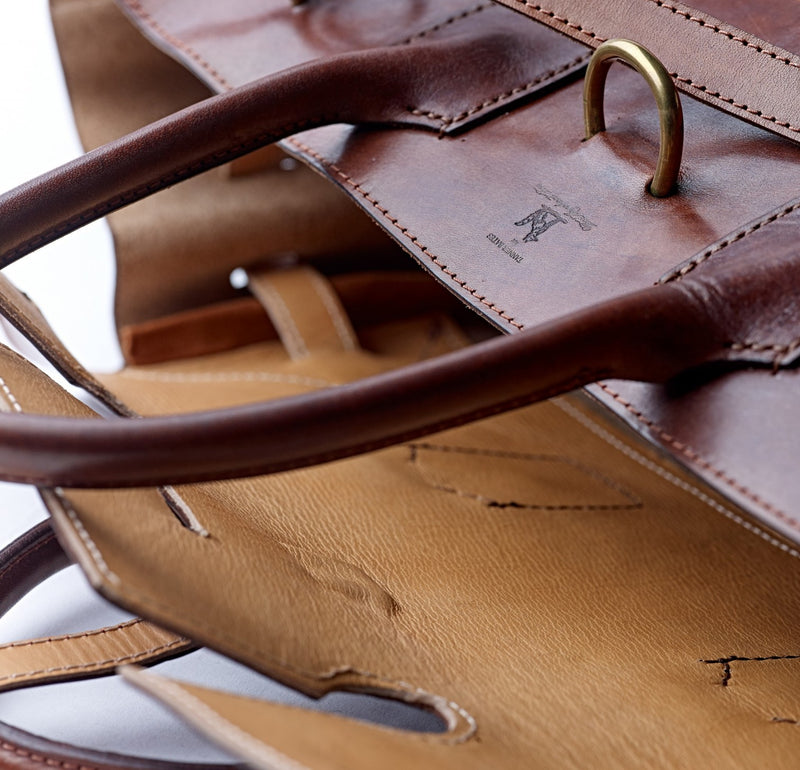 Oak Bark Leather Holford Holdall