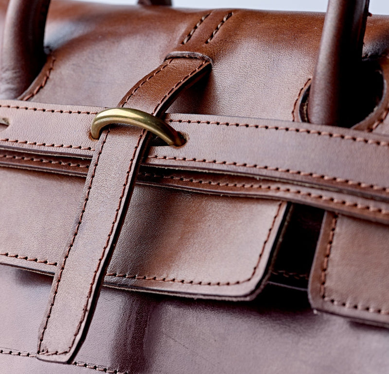 The -Finest-Quality-Oak-Bark-Leather-Holford-Holdall-The Merchant-Fox