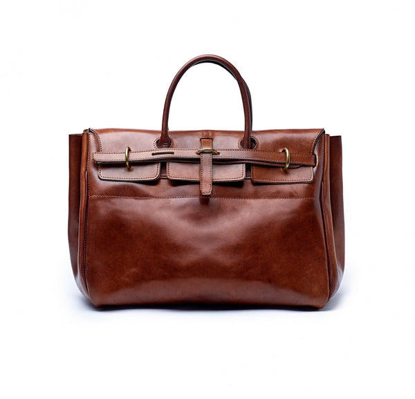 Luxury-Oak-Bark-Leather-Holford-Holdall- The Merchant-Fox