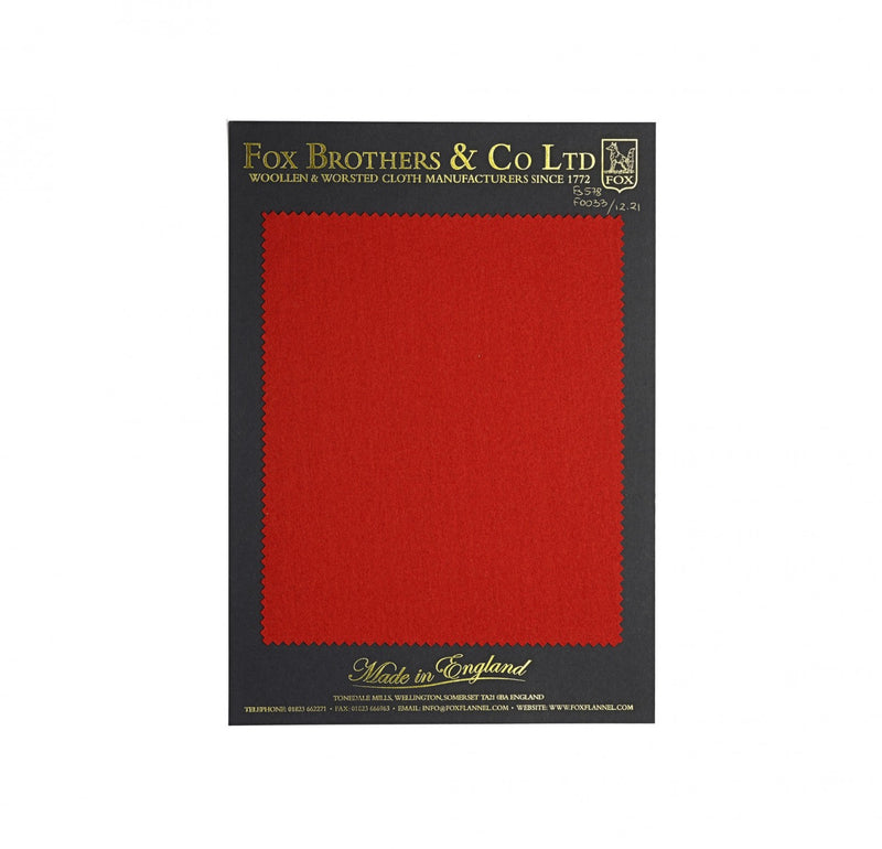 Queen's Award Bright Red Flannel
