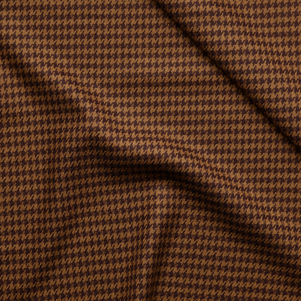 Brown Houndstooth Jacketing