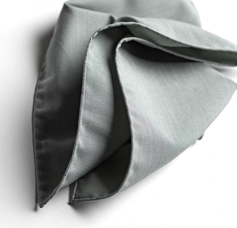 Sage Four-Point Star Silk Pocket Square