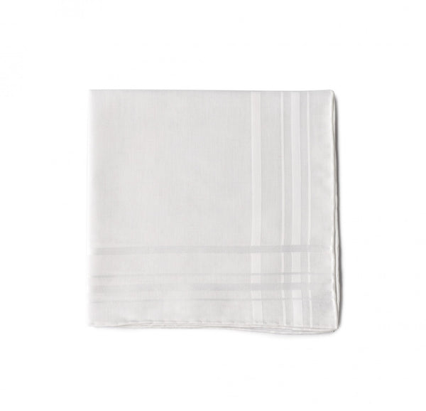 Simonnot Godard Classic White Vintage Pocket Square