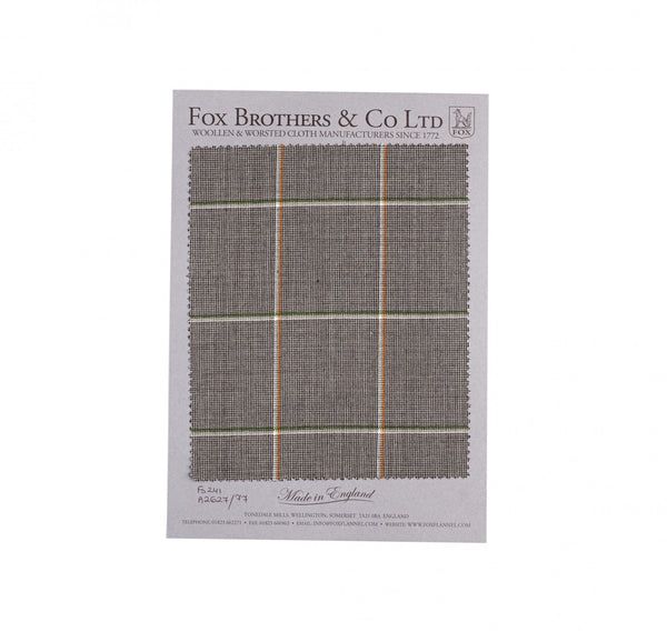 Slate Worsted Windowpane