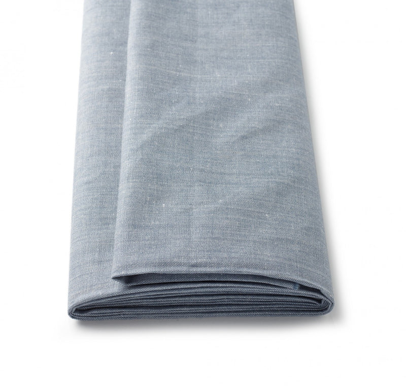 Soft Blue Melange Linen Jacketing