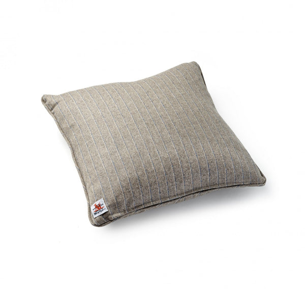 Soft-Grey Stripe Cushion