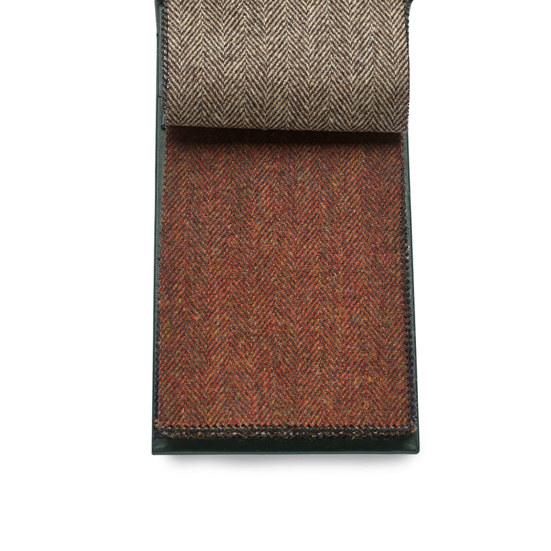 Finest quality 100% Wool Fox Tweed Cloth, Russet Herringbone.