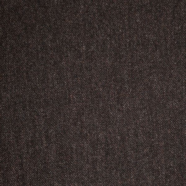 Rosewood Brown Herringbone Tweed