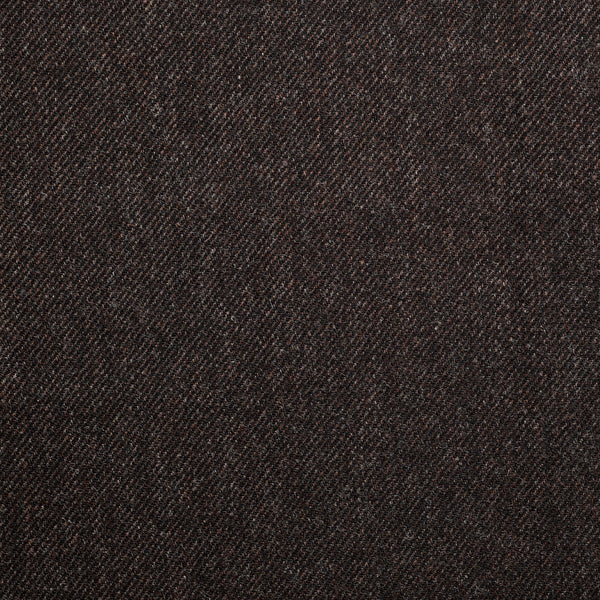 Dark Brown Twill Tweed