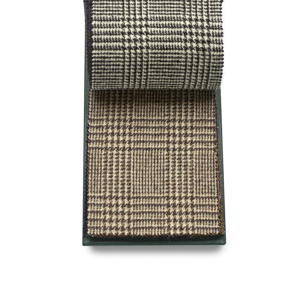 Finest Quality 100% wool Fox Tweed cloth, Brown Prince of Wales