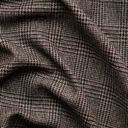 Brown Slate Prince of Wales Check Tweed
