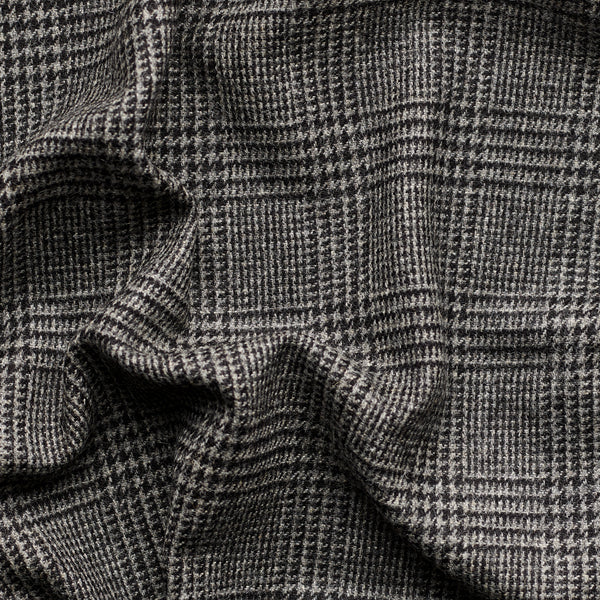 Slate Grey Prince of Wales Check Tweed