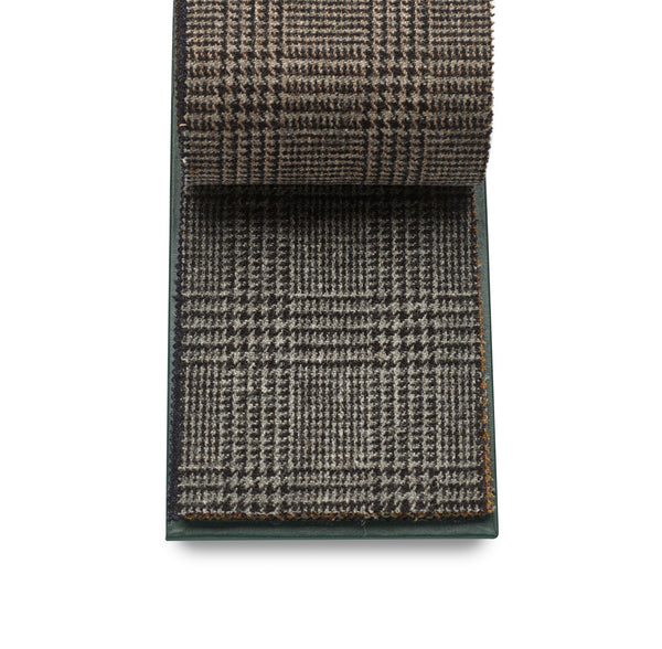 Luxury 100% wool Fox Tweed Cloth, Black and Grey Prince of Wales.