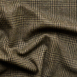 Taupe Green Prince of Wales Check Tweed