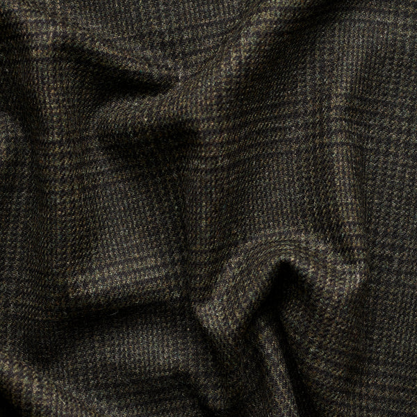 Deep Green Prince of Wales Check Tweed