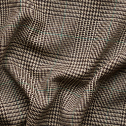 Taupe Prince of Wales Check Tweed with Racing Green Deco