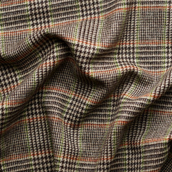 Chocolate Glen Check Tweed with a Lime & Tangerine Deco