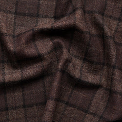 Chocolate Brown Tweed Plaid