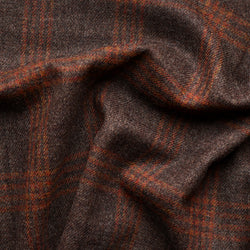 Brown Tweed with Amber Windowpane Deco