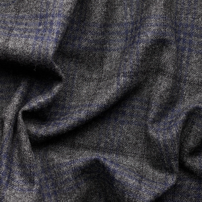 Charcoal Tweed with Black & Navy Windowpane Deco