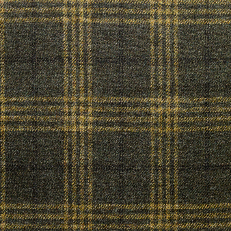 Forest Green Tweed with a Gold & Black Windowpane Deco